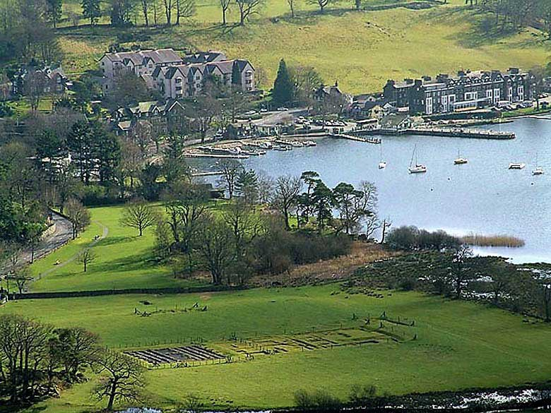 image of Galava Roman Fort at Windermere lake in the Lake District