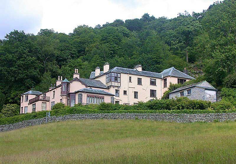 image of Brantwood at Coniston, home of John Ruskin.