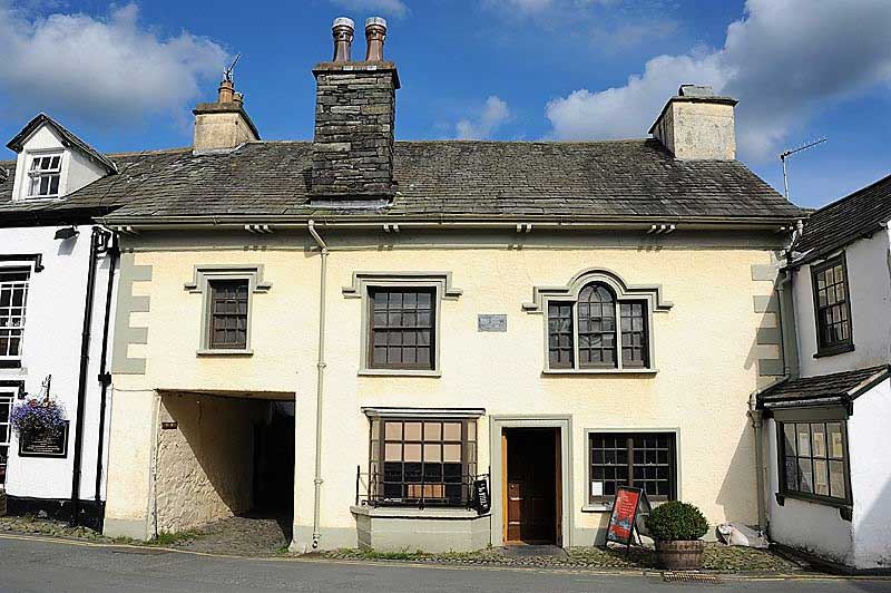 image of the exterior of the Beatrix Potter Gallery at Hawkshead in the Lake District
