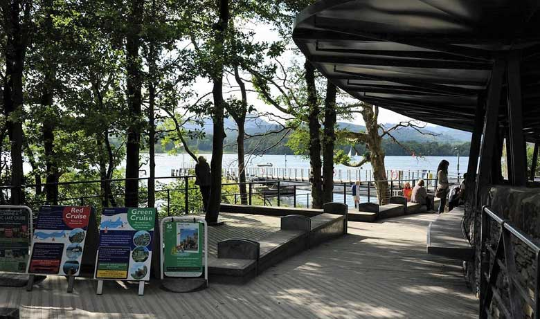 image of Brockhole Visitor Centre landing stage on Windermere in the Lake District