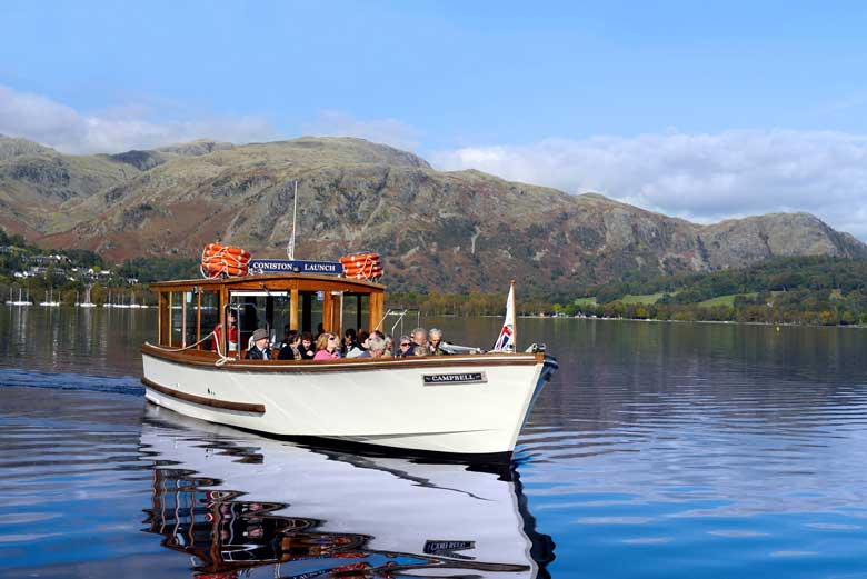 image of Coniston Launch on Coniston Water in the Lake District
