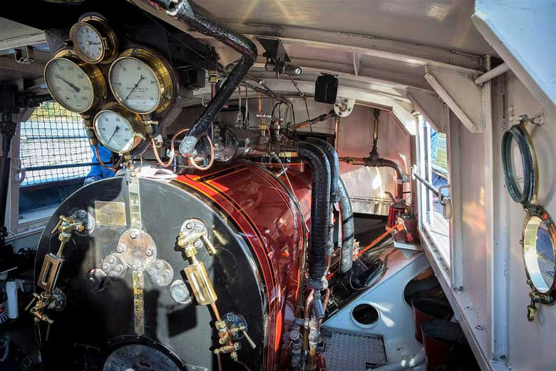 image of the engine room of the Steam Yacht Gondola on Coniston Water