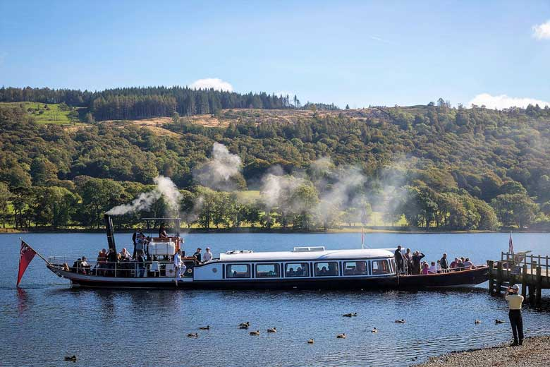 image of the Steam Yacht Gondola on Coniston Water