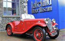 image of the Lakeland Motor Museum, with lots of things to do in Windermere on a rainy day in the lake district