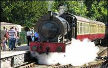 image of a steam train trip, one of the things to do in windermere in the lake district
