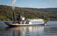 image of the steam yacht gondola on coniston water in the lake district