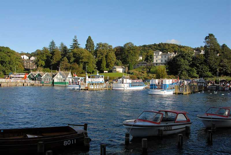 image of the bowness pier for windermere lake cruises in the Lake District