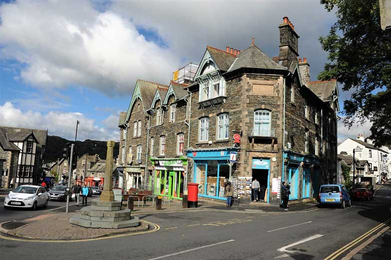 image of Ambleside Market Cross and Tourist Information Centre in the lake district