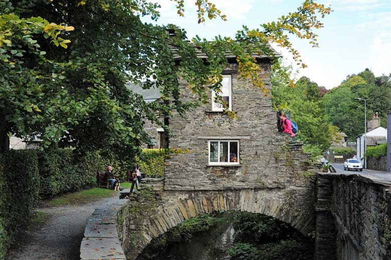 image of Bridge House over the Stock Ghyll beck in Ambleside in the Lake District
