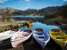 image of boats to hire on grasmere