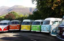 image of rainbow camper van hire in the lake district