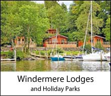 image of boat and lodges at windermere holiday parks