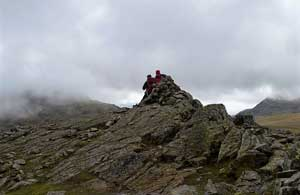image of the summit of Allen Crags fell in the Lake District walking guide