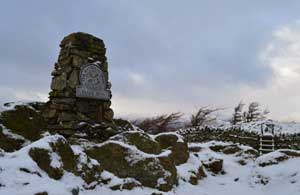 image of the snowy summit of Black Fell in the Lake District