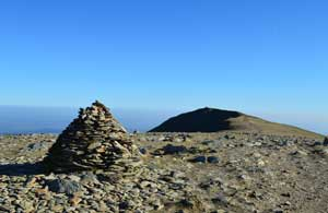 image of the summit of Brim Fell in the Lake District walking