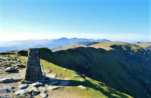 image of the summit of Coniston Old Man, a Lake District fell popular with walkers