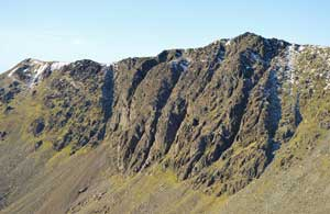 image of the face of Dow Crag fell in the Lake District walking guide
