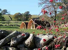 image of glamping pods in the lake district at Staveley near Windermere