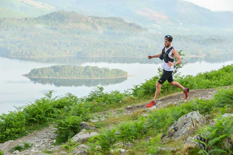 image of a fell runner participating in the Keswick Mountain Festival in the Lake District