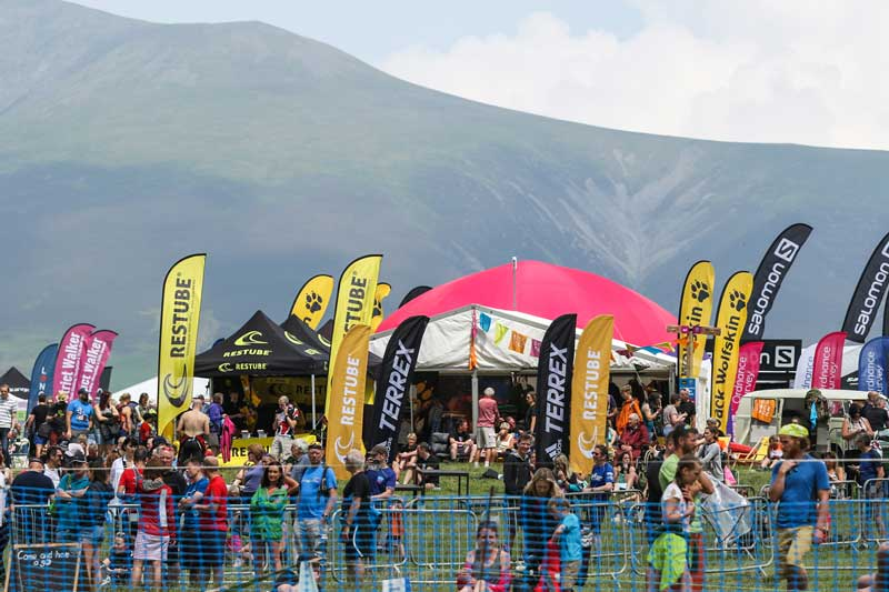 image of the spectators at the Keswick Mountain Festival in the Lake District