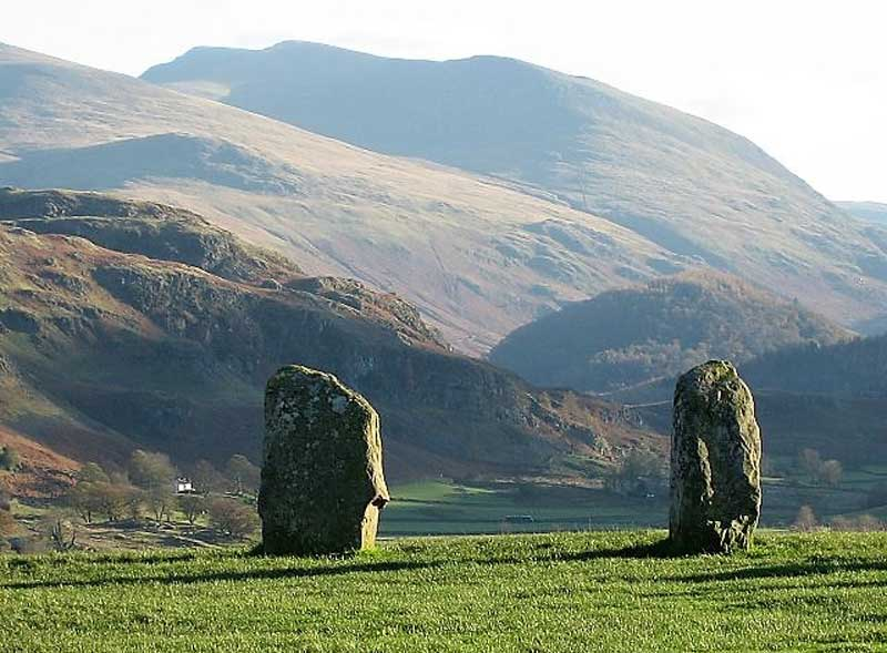 image of two of the standing stones of Castlerigg Stone Circle near Keswick in Cumbria