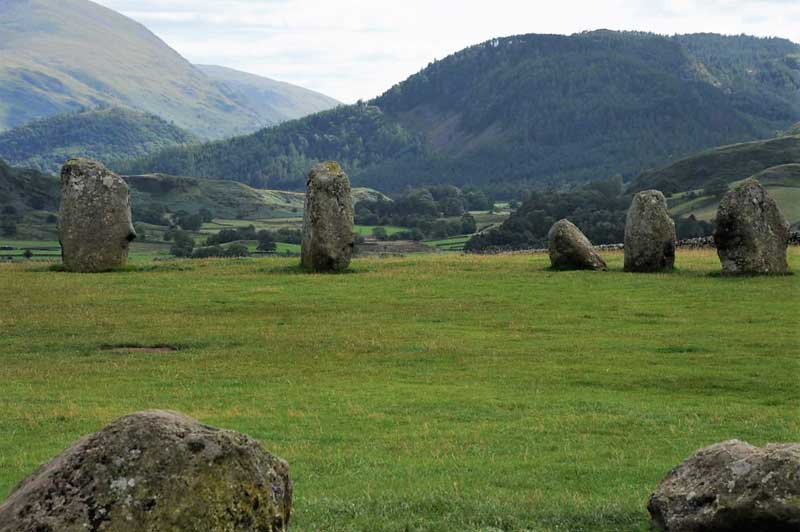 image of the stones of Castlerigg Stone Circle near Keswick in the Lake District