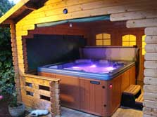 image of a hot tub at holiday cottages in Gilcrux village