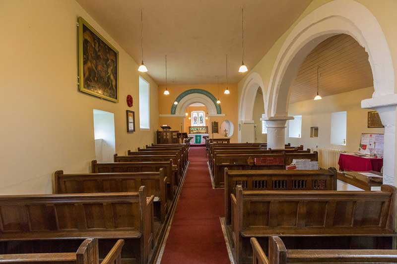 image of the interior of St Mary's church in Gilcrux