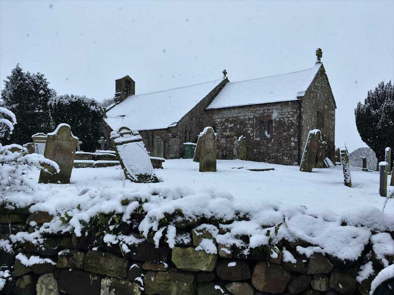 image of Gilcrux church in the snow