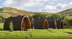 image of a lake district glamping pods