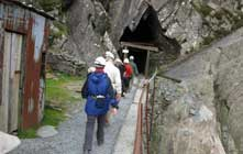 image of people entering Honister Slate Mine