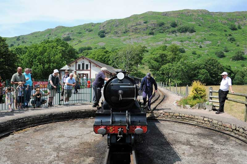 image of the turn table at the Ravenglass and Eskdale Railway in Cumbria