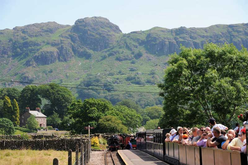 image of the Ravenglass and Eskdale Railway in the Lake District