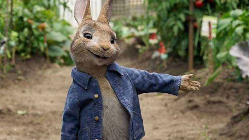 image of peter rabbit for a film event in the Lake District