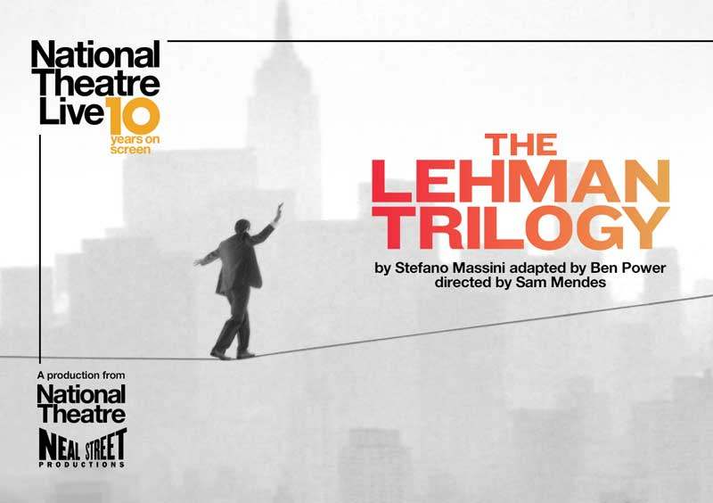 image of film mposter for the Lehman Trilogy, an event in Keswick in the Lake District