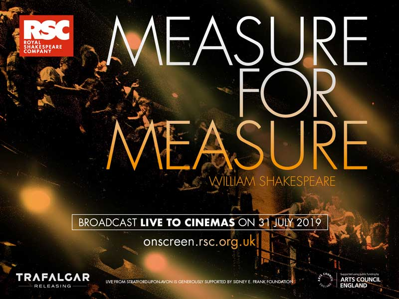 image of a film poster for Measure for Measure, a  film event in Keswick in the Lake District