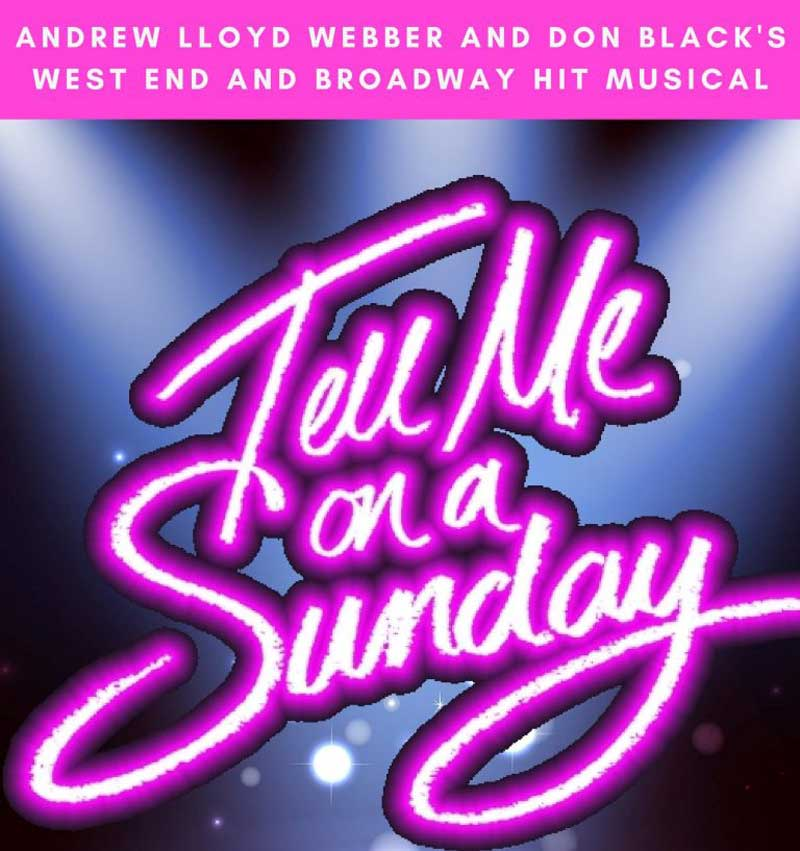 image of the Broadway Musical poster for Tell Me On A Sunday playing at The Old Laundry Theatre in Bowness-on-Windermere in the Lake District