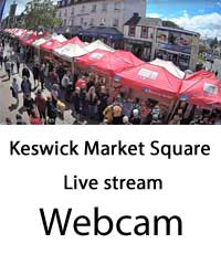 image of the view from the live webcam in Keswick Market Square