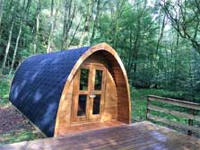 image of a pet friendly camping pod for lake district glamping