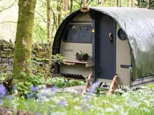 image of a Lake District glamping Landpod at Coniston
