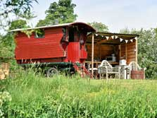 image of Lake District glamping gypsy wagon at Drybeck Farm