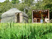 image of yurts for the lake district glamping