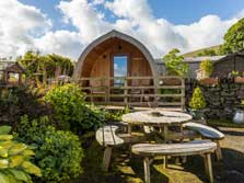 image of an ensuite luxury pod near keswick for lake district glamping