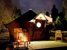 image of a holiday cabin for glamping Lake District