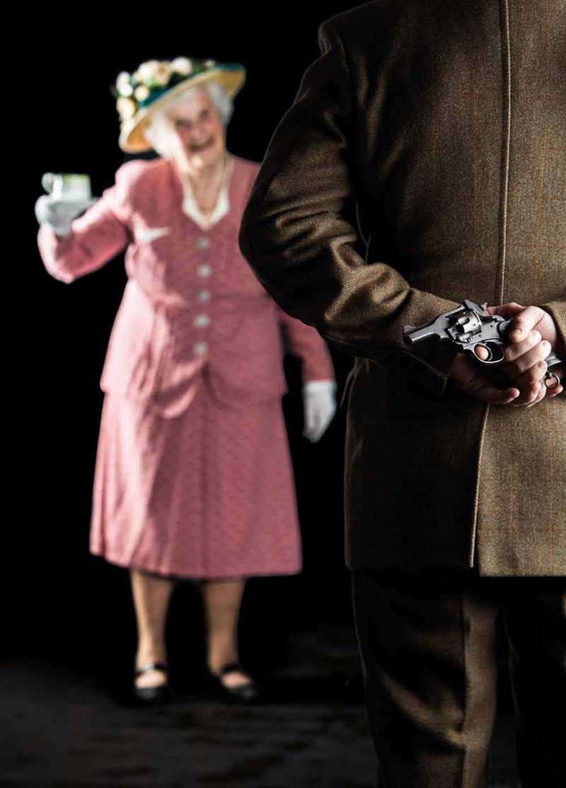 image of actors in the Ladykillers, a theatre event in the Lake District in Keswick