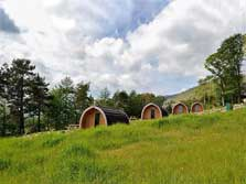 image of pet friendly camping pods in the lake district
