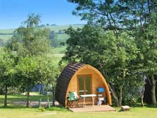image of ullswater glamping pods in the lake district