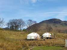 image of pet friendly glamping lake district yurts at Buttermere