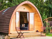 image of pet friendly lake district pods with hot tubs