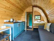 image of a pet friendly lake district glamping pod with hot tub